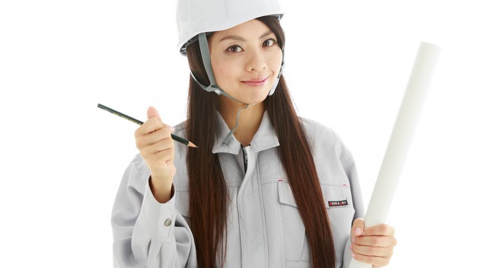 安全確認する女性